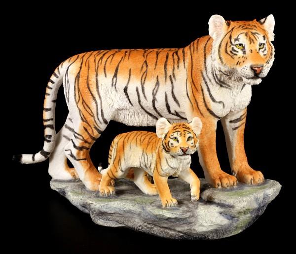 Tiger Figur - Mutter mit Jungem