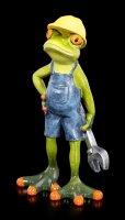 Lustige Frosch Figur als Mechaniker