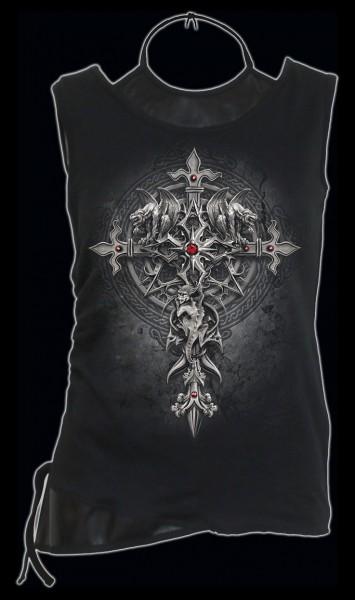 Spiral Damen Gothic Shirt mit Kreuz - Custodian