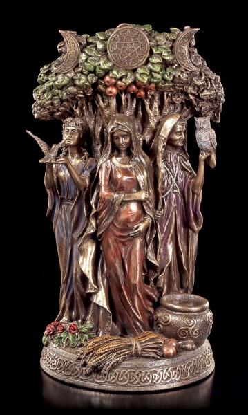Keltische Dreifaltigkeits Göttin Figur - Altes Weib, Mutter & Jungfrau