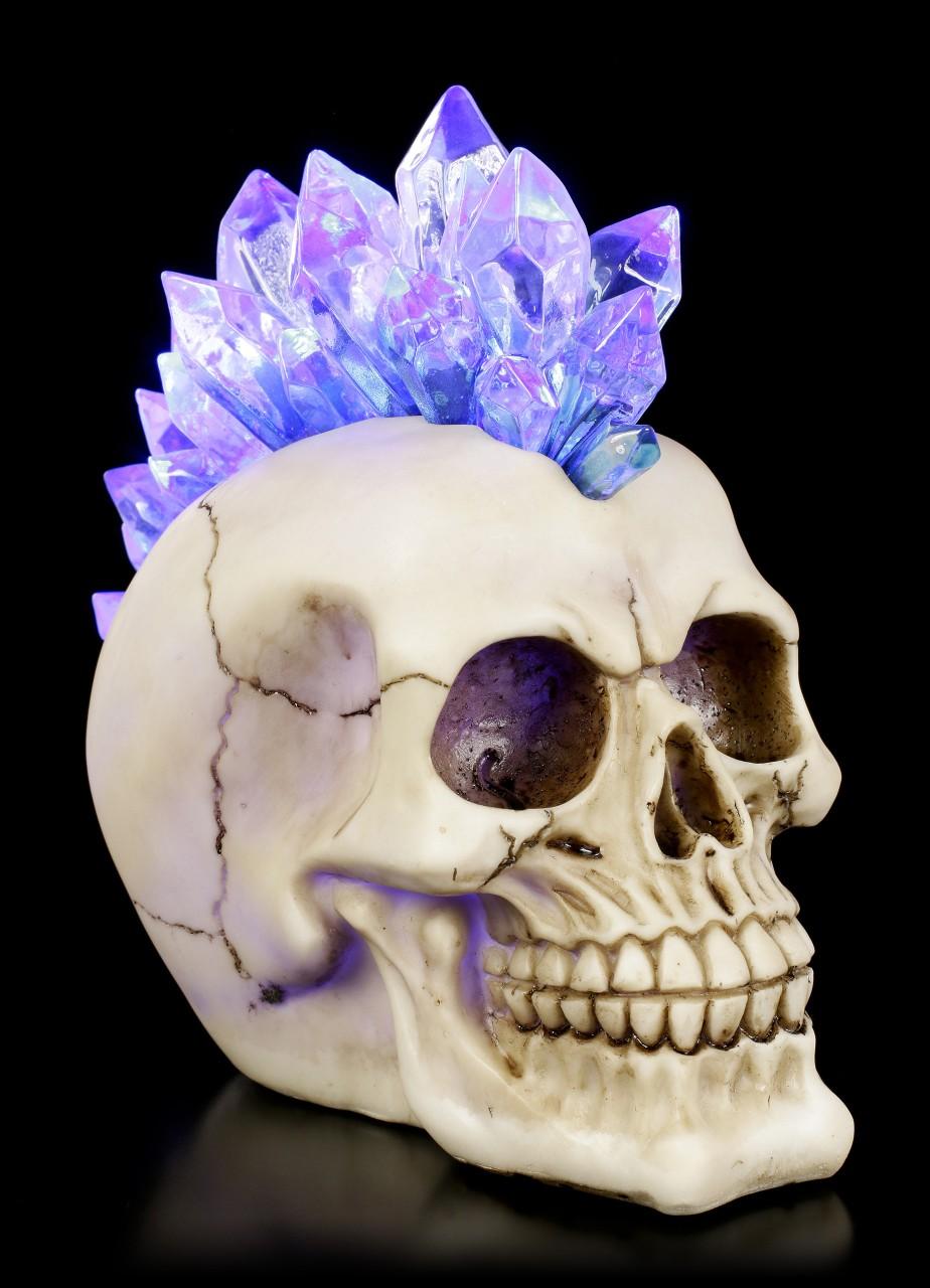 Irokesen Totenkopf LED - Crystal Hawk