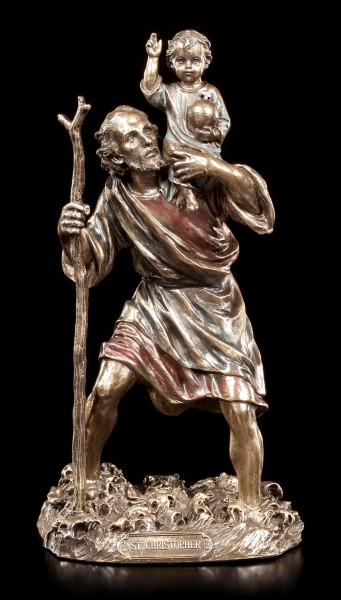 Holy Figurine - St. Christopher with Infant Jesus