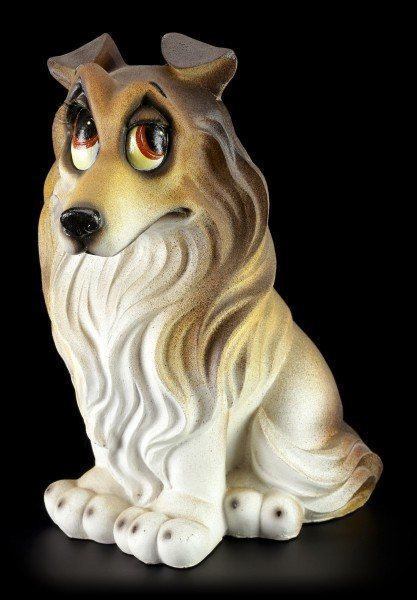 Lustige Hunde Figur - Collie