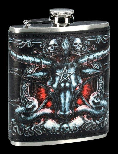 Hip Flask - Baphomet with Pentagram