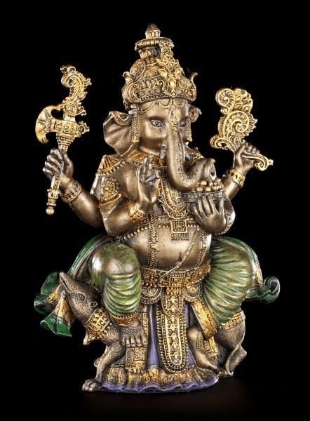 Buddha Figur Ganesha - bronzefarben