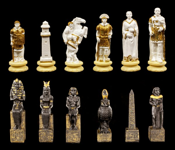 Small Chessmen Set - Egyptians vs. Knights