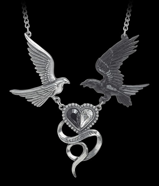 Alchemy Raven Heart Necklace - Epiphany Of St. Corvus