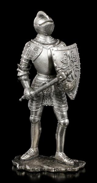Zinn Ritter Figur mit Schwert und Schild