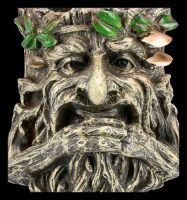 Pflanztopf - Greenman hält seinen Bart