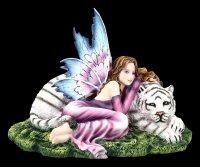 Elfen Figur - Maritima mit weißem Tiger