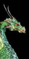 Drachen Figur mit LED - Auge des Drachen - Grün