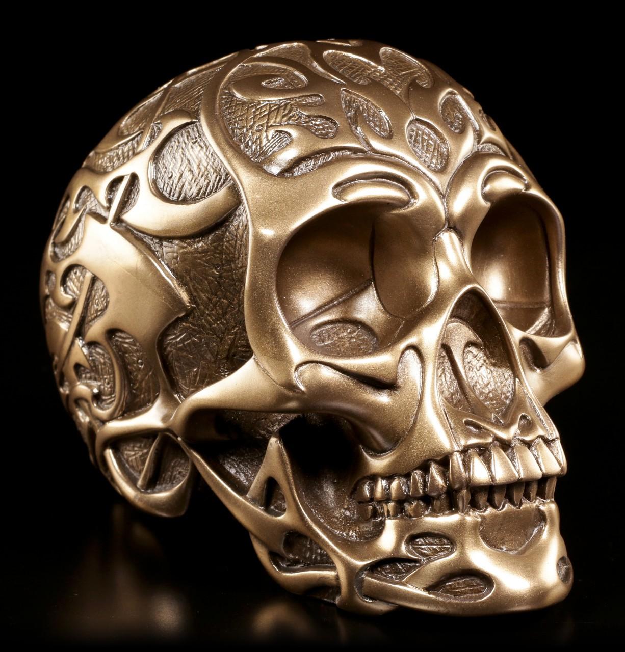Tribal Skull medium bronze