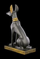 Anubis Figur - Ägyptischer Gott schwarz-gold - klein