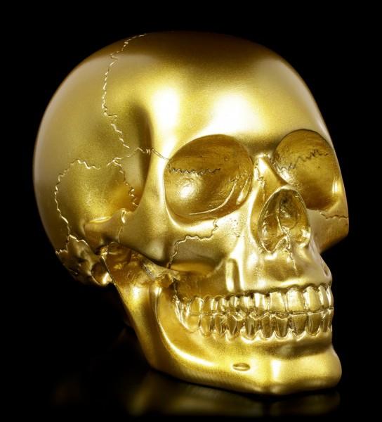 Skull - golden
