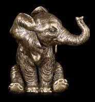 Small Sitting Elephant Figurine - Nelly