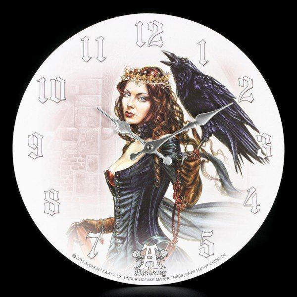 Wanduhr Fantasy - Vesoeritide Tarot Queen - Alchemy