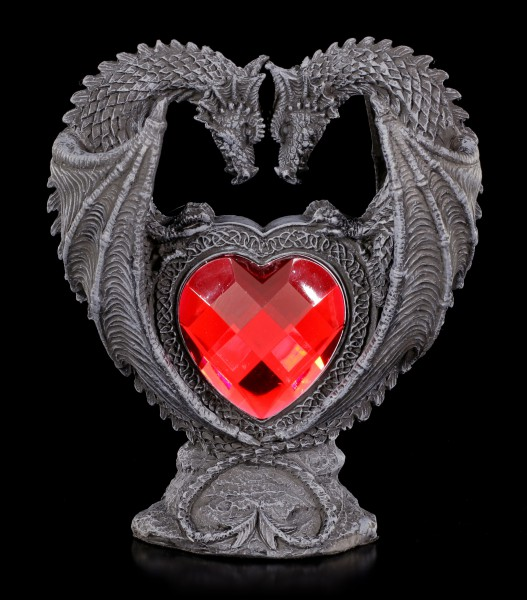 Dragon Figurine - Couple with red Heart