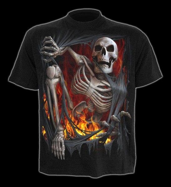 T-Shirt - Skelett steigt aus Hölle - Death Re-Ripped