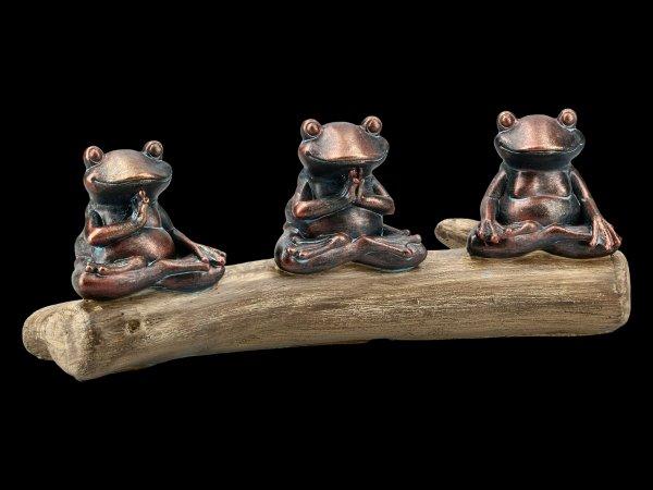Frog Figurines Meditating