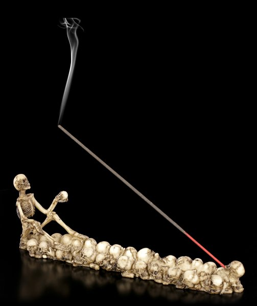 Skelett Räucherstäbchenhalter - Last Smoke