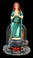Keltische Göttin Brigid Figur - coloriert