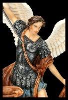 Small Archangel Michael Figurine - colored