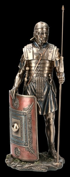 Roman Figurine - Soldier with Spear and Shield