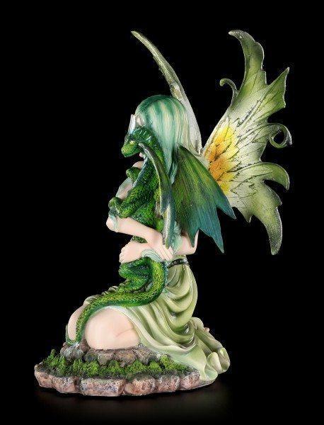 Elfen Figur - Fanaion mit Drachenjungem im Frühling
