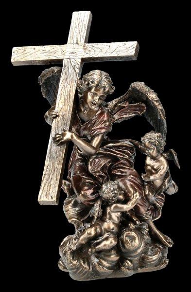 Engel Figur - Kreuz Tragend