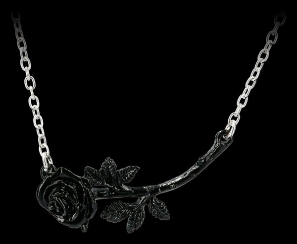 Alchemy Gothic Necklace - Black Rose Enigma