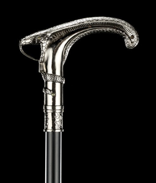 Swaggering Cane - Snake Handle - Metal