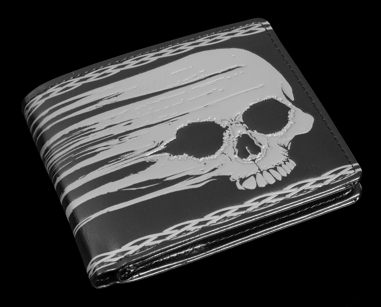 Men's Wallet with Skull - Blurred