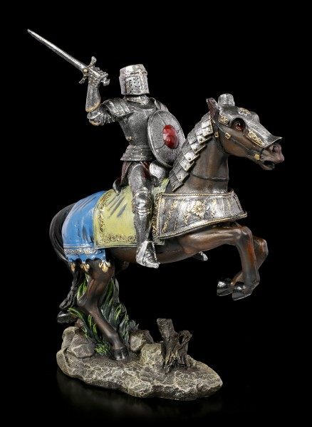 German Knight Figurine on Horse in Attack