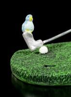 Golf Player Figurine with Bird on Club - Birdie