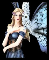 Fairy Figurine - Corelei with Owl and Wolf