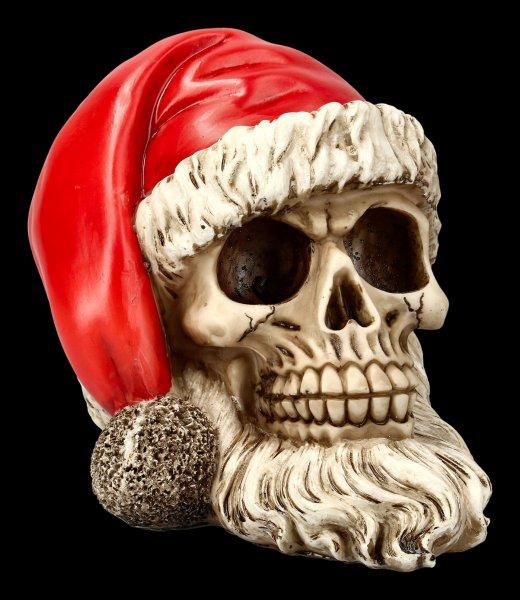 Totenkopf - Weihnachtsmann mit Bart