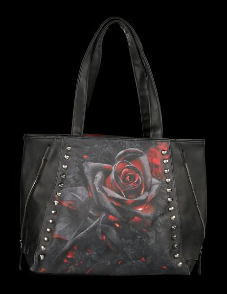 Kunstleder Tragetasche Gothic - Burnt Rose