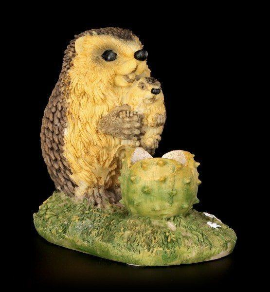 Funny Hedgehog Figurine with Baby - Joy of Motherhood