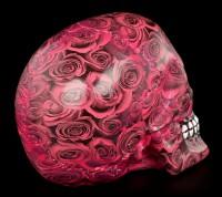 Bunter Totenkopf mit Rosen - Romance