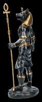 Egyptian Warrior Figurine - Anubis - Black Gold