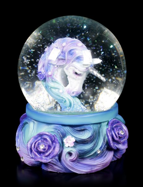 Unicorn Snow Globe - Pure Elegance