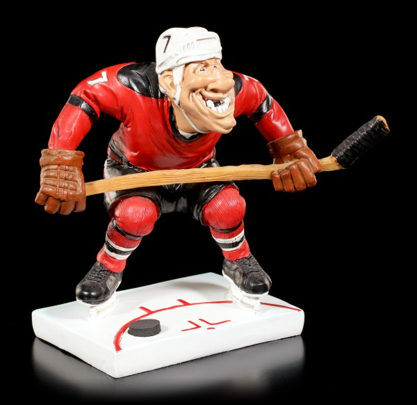 Eishockeyspieler Figur am Bully - Funny Sports