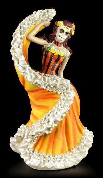 Flamenco Tänzerin - Day of the Dead - Orange