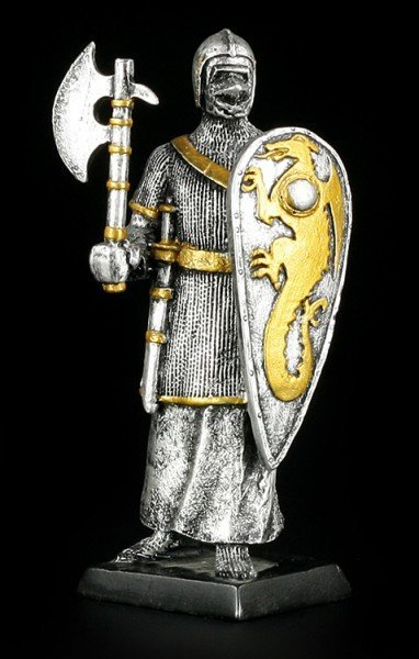 Small Knight Figure with Axe and Pavis