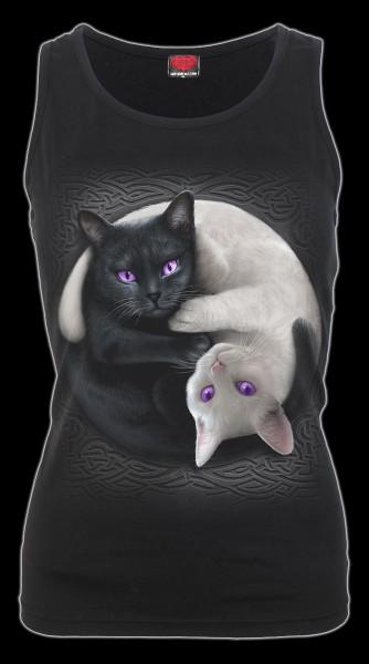 Damen Shirt mit Katzen - Yin Yang Cats