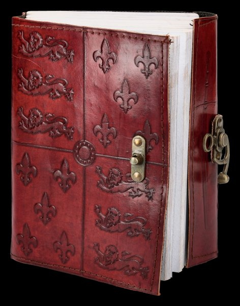 Medieval Leather Journal with Lock