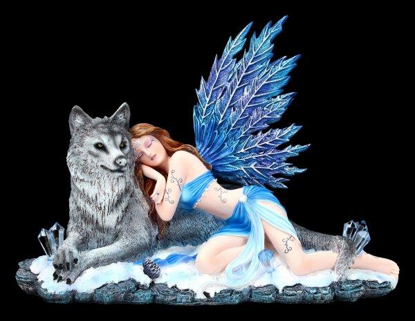 Fairy Figurine with Wolf - Lupiana