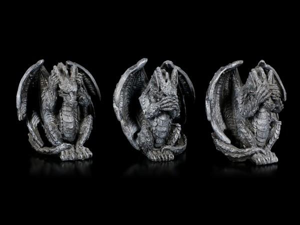 Small Dragon Figurines - No Evil
