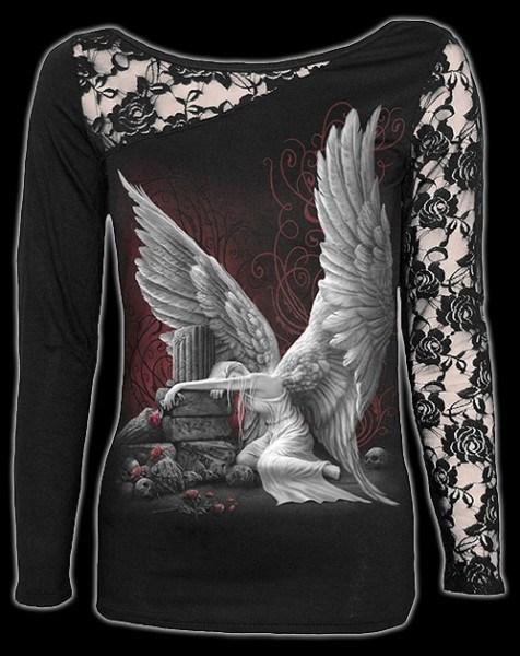 Netz Langarmshirt - Tears Of An Angel