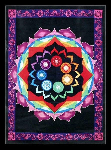 Cotton Tapestry - Chakra Rainbow